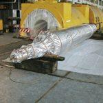 imballaggio di grande macchinario con accoppiato barriera