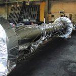 imballaggio di grandi macchinari con accoppiato barriera