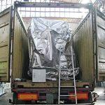imballaggio per il trasporto via terra di un grande carico